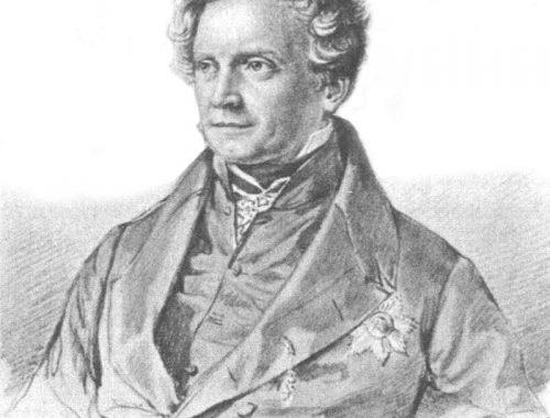 Karl August Varnhagen von Ense, 1839, Zeichnung von Samuel Friedrich Diez