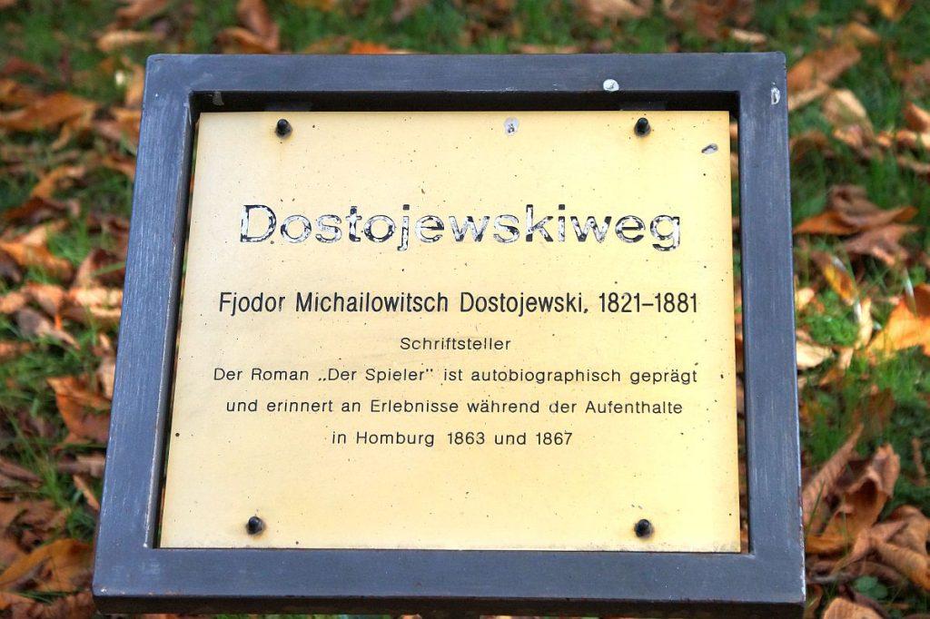 Dostojewskiweg in Bad Homburg