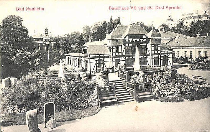 Bad Nauheim Badehaus VII und großer Sprudel