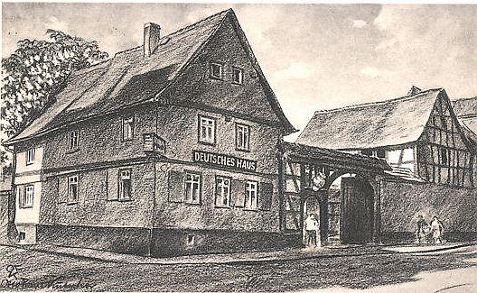 Bad Nauheim Deutsches Haus - mittelalterliche Altstadt