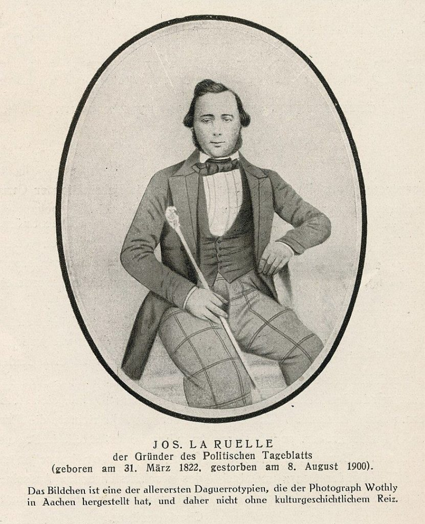 Joseph La Ruelle Aachener Zeitungsgründer