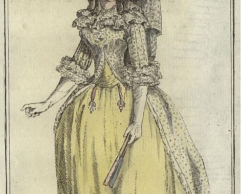 Bad-Bekleidung 1788 - Robe à Gorge Angloise