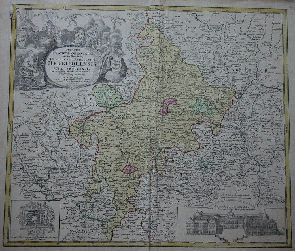 Karte Hochstift Würzburg