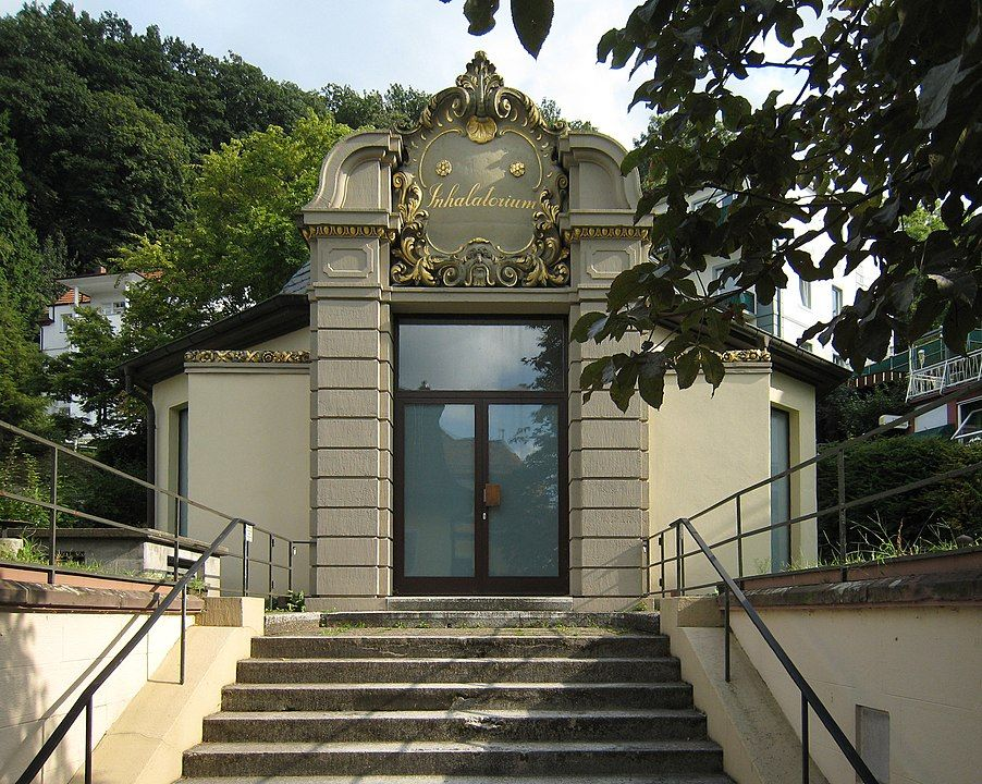 Ehemaliges Inhalatorium in Badenweiler. Badenweiler/Süd-Schwarzwald/Deutschland