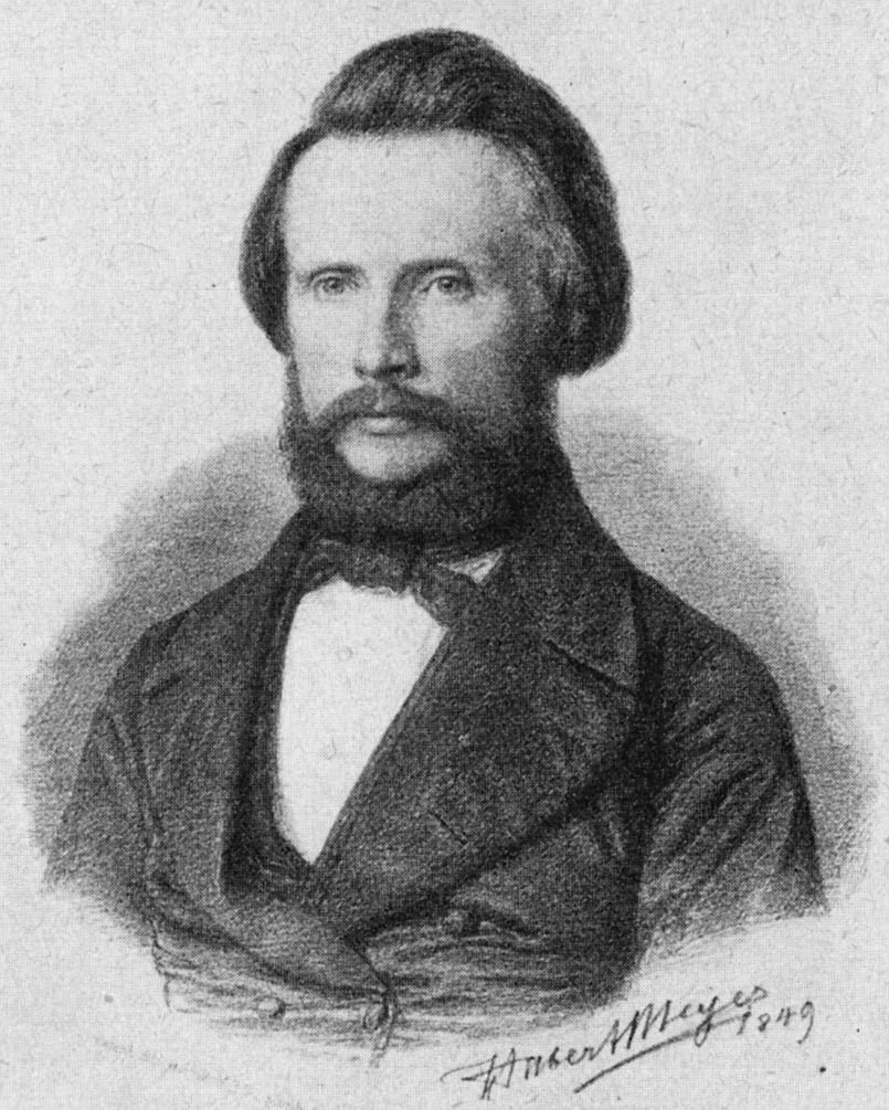 Friedrich Eisenlohr, Porträt von Hubert Meyer (1849)