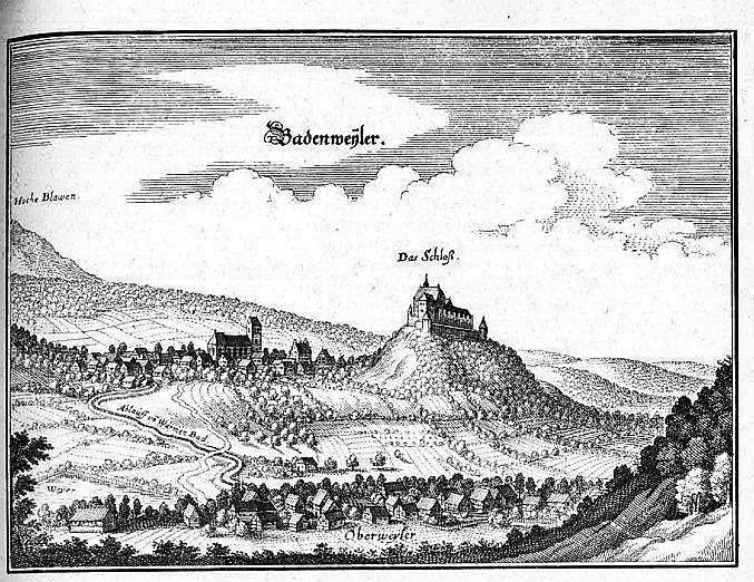 Merian: Badenweiler ca. 1650
