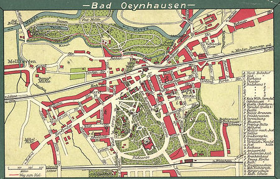 Stadtplan Bad Oeynhausen 1910