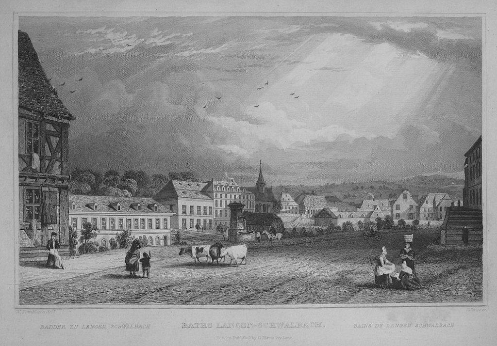 Bad Schwalbach um das Jahr 1840