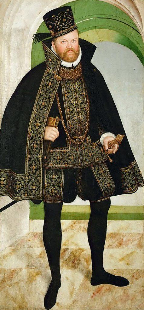 Kurfürst August von Sachsen - Gemälde von Lucas Cranach 1584 Kuraufenthalt in Bad Schwalbach