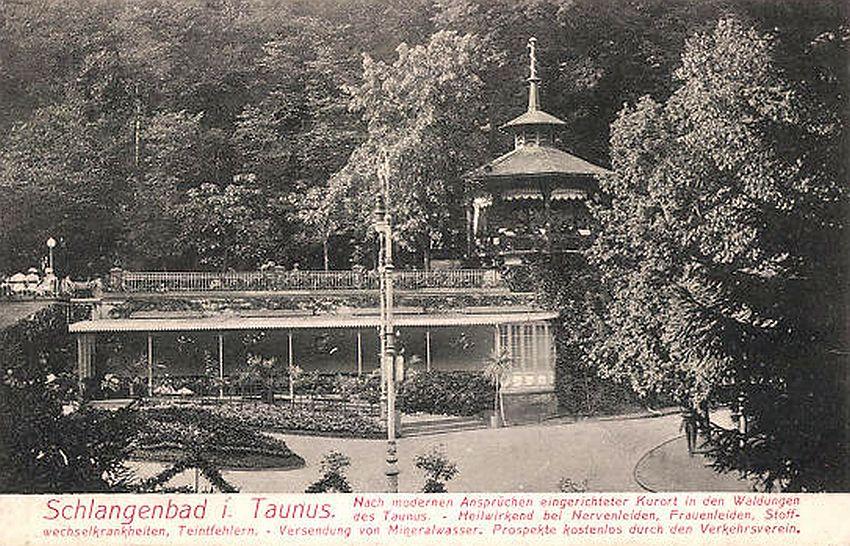 Werbung für Schlangenbad - um 1908