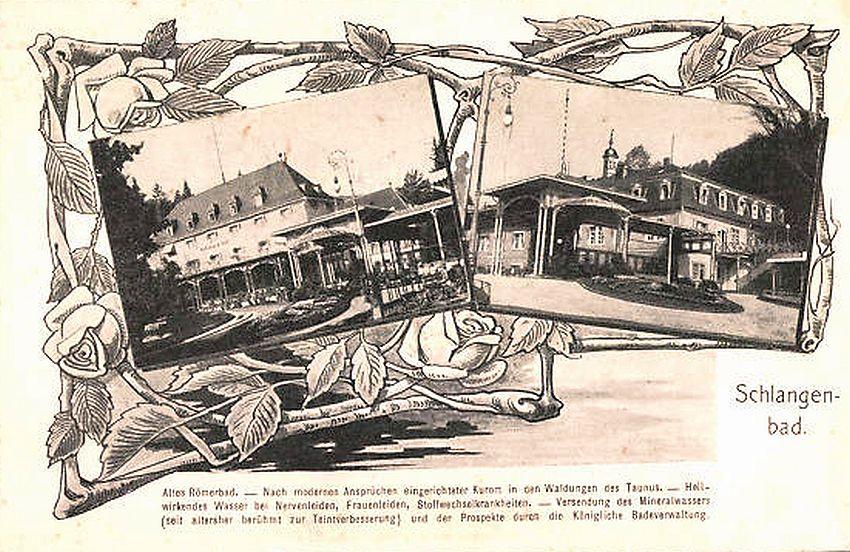 Werbung für Schlangenbad aus preußischer Zeit