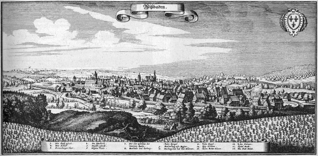 M. Merian: Wiesbaden um 1655