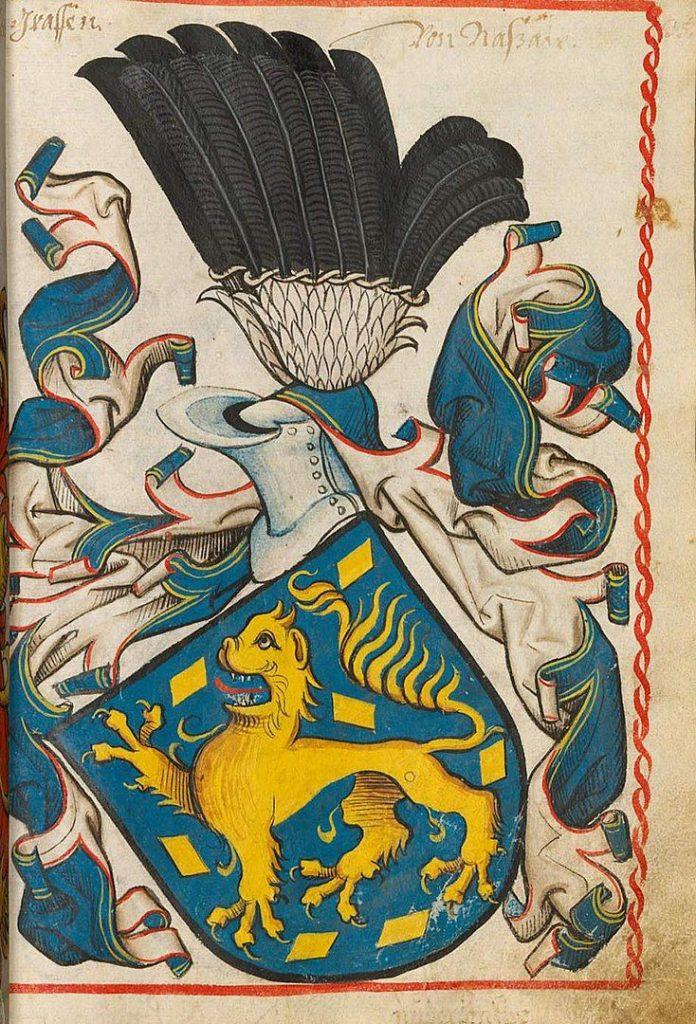 Wappen der Grafen von Nassau 1450-1480