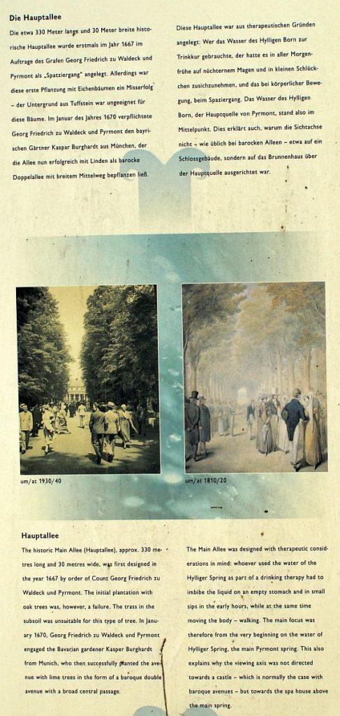 Hauptallee von Bad Pyrmont schon 1784 Treff der Gesellschaft