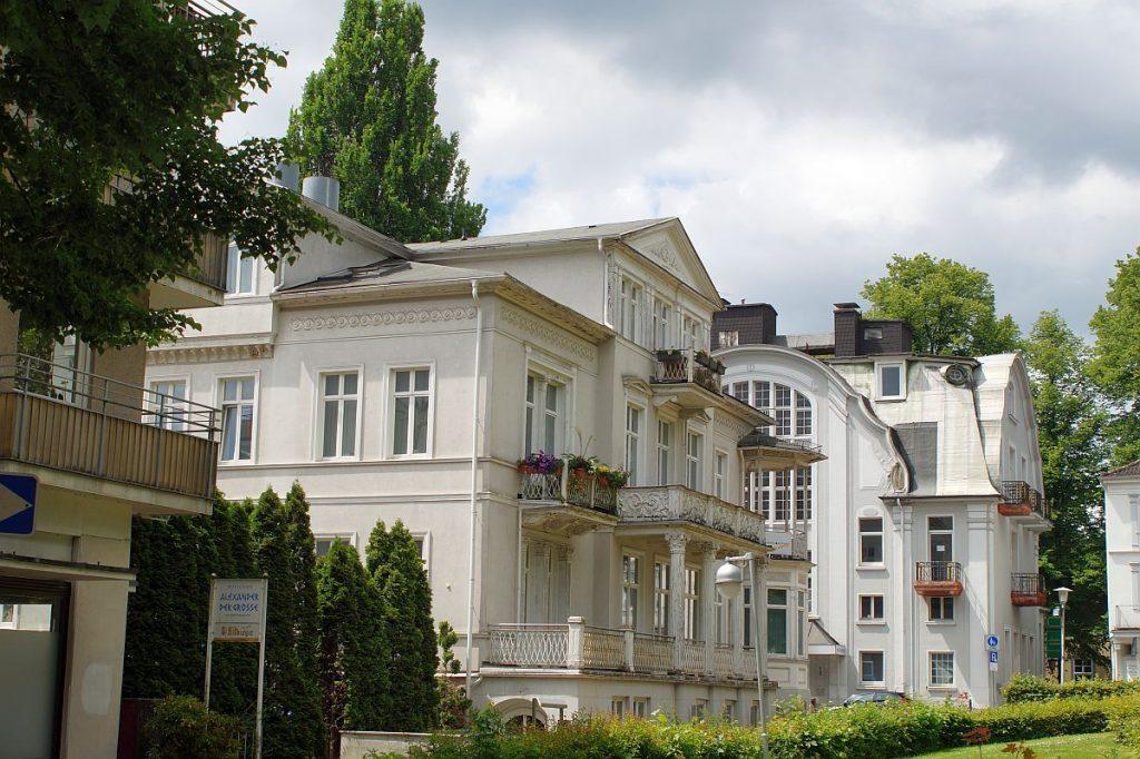 historische Architektur in Bad Pyrmont